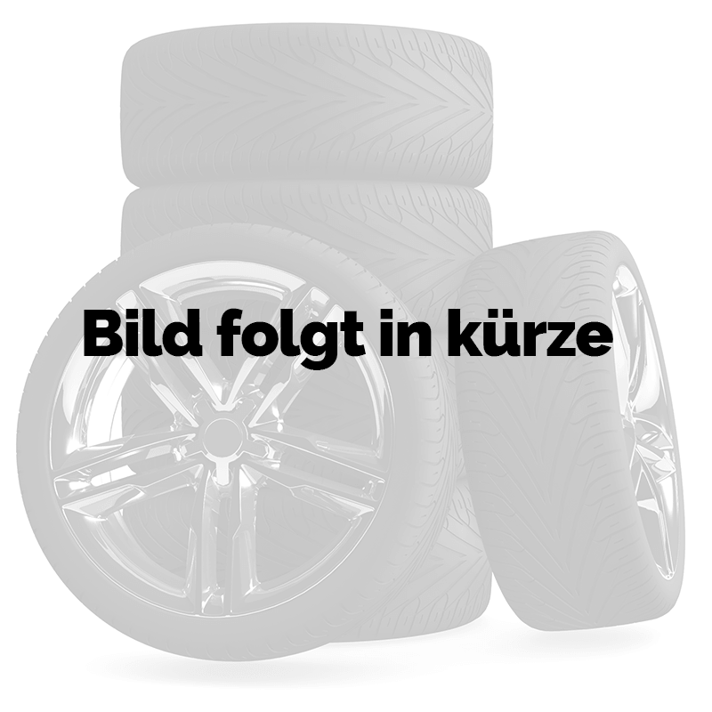 Brock B25 schwarz front-poliert 6.5x15 ET38 - LK5/100