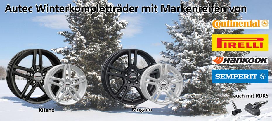 Autec Winterkompletträder mit Markenreifen und RDKS