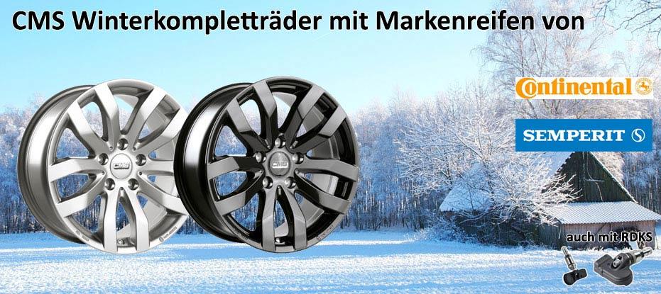 CMS Winterkomplettradsatz mit Markenreifen und RDKS