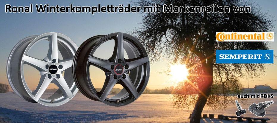 Ronal Winterkomplettradsatz mit Continental Reifen und RDKS